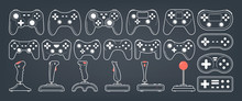 Gamepad Set. Collection Of Console Controller Of Various Shape