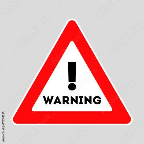 Valokuva Warning road sign. Red symbol. Construction works