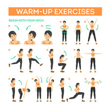 Warm-up Exercise Set Before Wo...