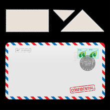 Mail Air Envelope Icon With Se...