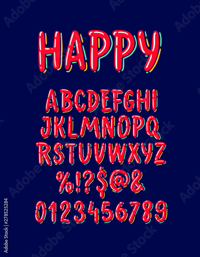Vector of colorful stylized font  Wall mural
