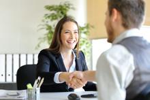 Businesspeople Handshaking Aft...