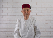 Vintage Portrait Of An Old Turkish Man