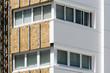 canvas print picture - aluminium composite panels to repair  restore building  facade