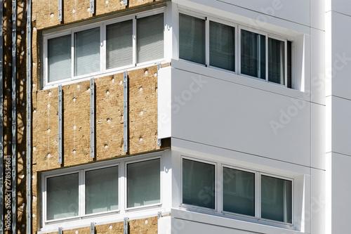 Fototapeta aluminium composite panels to repair  restore building  facade obraz