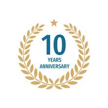 10 Th Years Anniversary Badge ...