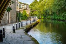 Leeds-Liverpool Canal At Hebden Bridge In West Yorkshire