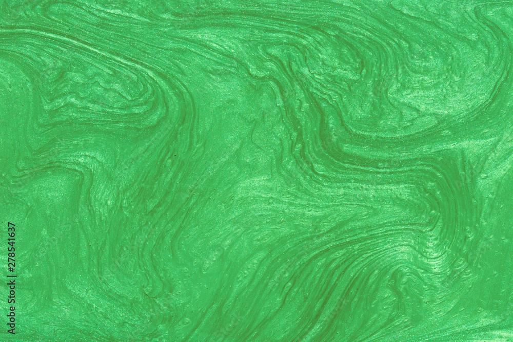 Fototapeta green painted metallic background texture
