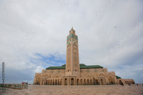The Hassan II Mosque is a mosque in Casablanca, Morocco. It is the largest mosque in Africa, and the 5th largest in the world. Its minaret is the world's tallest minaret at 210 metres.