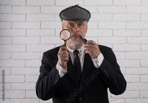 portrait of the detective Sherlock Holmes фототапет