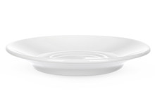 Empty Ceramic Saucer Isolated ...