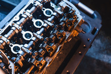 Car Engine Cylinder Head Repair.