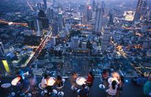Bangkok Aerial City Rooftop  S...