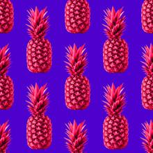 Pop Art Pineapples Pattern Sea...