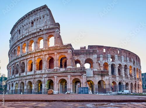 Fotografie, Obraz  Colosseum at sunrise in Rome, Italy