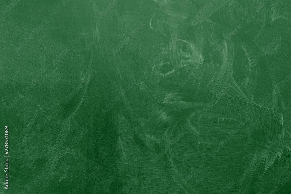Fototapety, obrazy: green classroom chalkboard or blackboard with chalk stains background