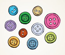 Button. Vector Drawing