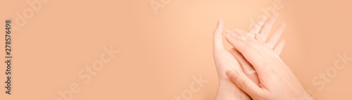 Fototapeta  web banner design for woman lifestyle and activity in spring and summer season w