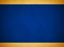 Elegant Rich Blue Grunge Background. Rich Gold Header Footer