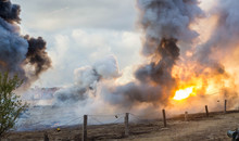 Explosions Of Bombs And Shells...