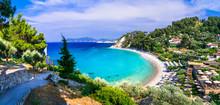 Best Beaches Of Samos Island - Beautiful Tsambou . Greece