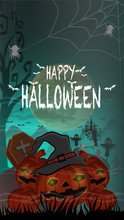 Halloween Background With Pump...