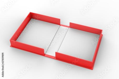 Fotografering Blank clam shell box for branding mock up