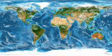 Planet Earth Europe View Isolated (Elements Of This Image Furnished By NASA). 3D Rendering