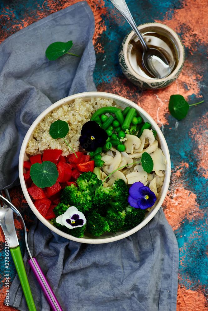 Fototapety, obrazy: Vegetarian salad Buddha Bowl.