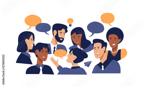 Fotografía Diverse office business people brainstorming ideas
