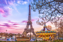 The Eiffel Tower And Vintage C...