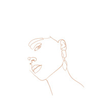 Continuous Line, Drawing Of Be...