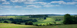 canvas print picture - landscape with cattle in the belgian ardennes near stavelot
