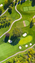 Aerial View Of A Golf Course F...