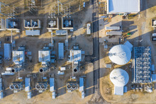 Aerial View Of A Clean Power G...