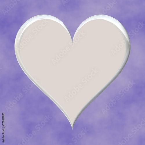 3d White Heart Shape On Seamless Pink Background Wallpaper