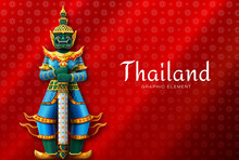 Thailand Art Thai Temple Guard...