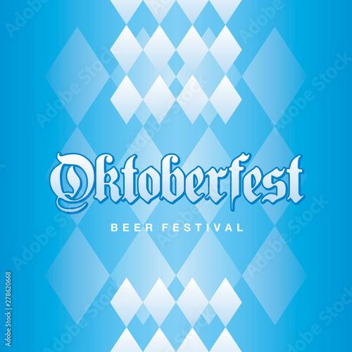 Valokuva Oktoberfest Beer Festival 2019 Bavarian blue background