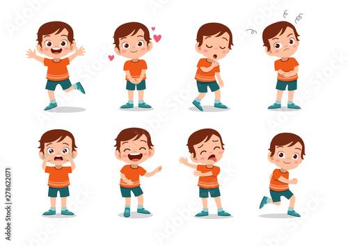kid child expression vector illustration set bundle - 278622071