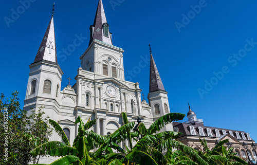St Louis Cathedral in Jackson Square New Orleans Canvas Print
