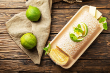Cake Roll With Lime And White ...