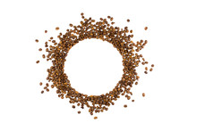 Circle From Roasted Coffee Bea...