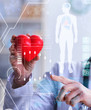 Woman doctor in telemedicine cardiology concept