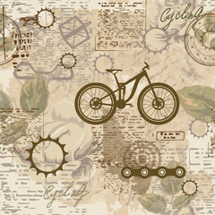Bicycle on the grunge backg...