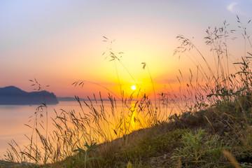 Panel Szklany Morze Scenic dawn