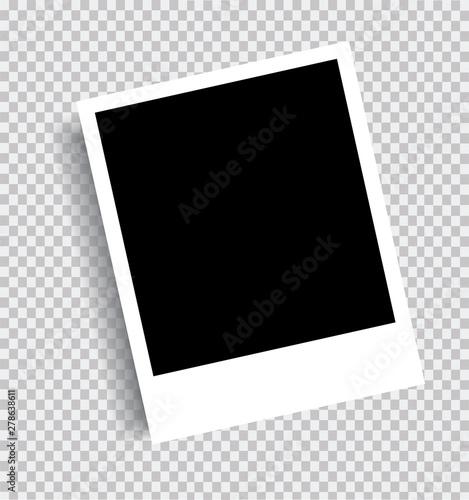 Fototapeta Realistic picture frame isolated background. Vector graphics obraz na płótnie