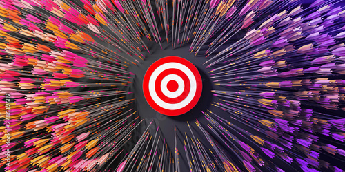 Fotografía  Business abstract illustration; target and motivation concepts