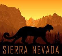Vector Sierra Nevada Range Mou...