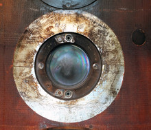 Close Up Of A Round Porthole O...