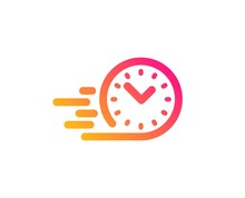 Fast Delivery Icon. Time Sign....